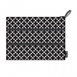 Ecozz Zip bag Squares -zwart