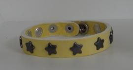 Armband Sterren - zachtgeel