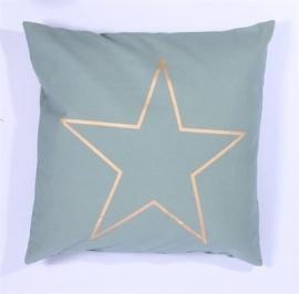 Kussenhoes  Star - groen