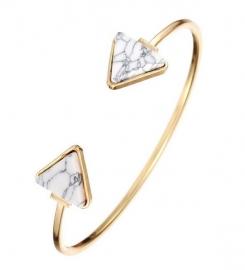 Armband Triangle - marble