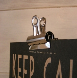 4032 Bulldog clip chroom - middel