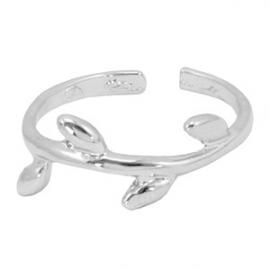 Ring Leaf - 4, zilver