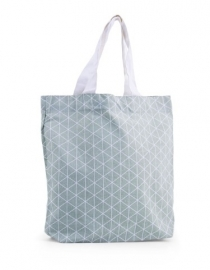 Tote bag Triangle - sage green