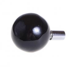 Wandknop, rond - zwart