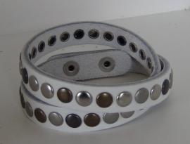 Wikkelarmband Studs -  wit