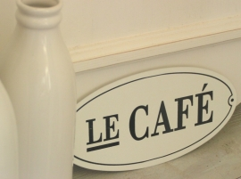 Metalen bord Le Café