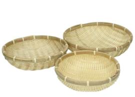 Set van 3 bamboe manden