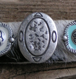 133 Clickbutton Ovaal - zilver