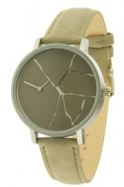 Horloge Crack - grijs