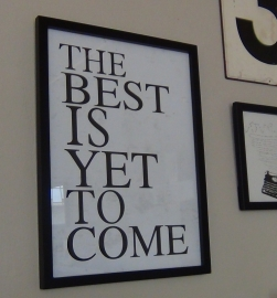 Lijst The best is yet to come