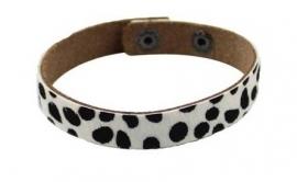 Leren armband Spots