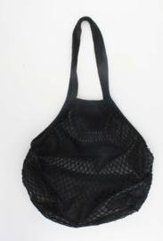 Granny's nettas met schouderband, zwart