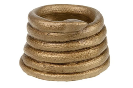 Bloempot Snake, brons - S