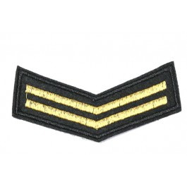 Patch Rang - goud, 2 strepen