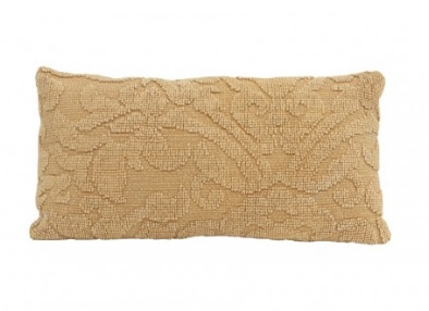 Kussen Elliba - stonewash okergeel (60x30)