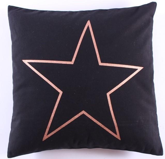 Kussenhoes Star - zwart