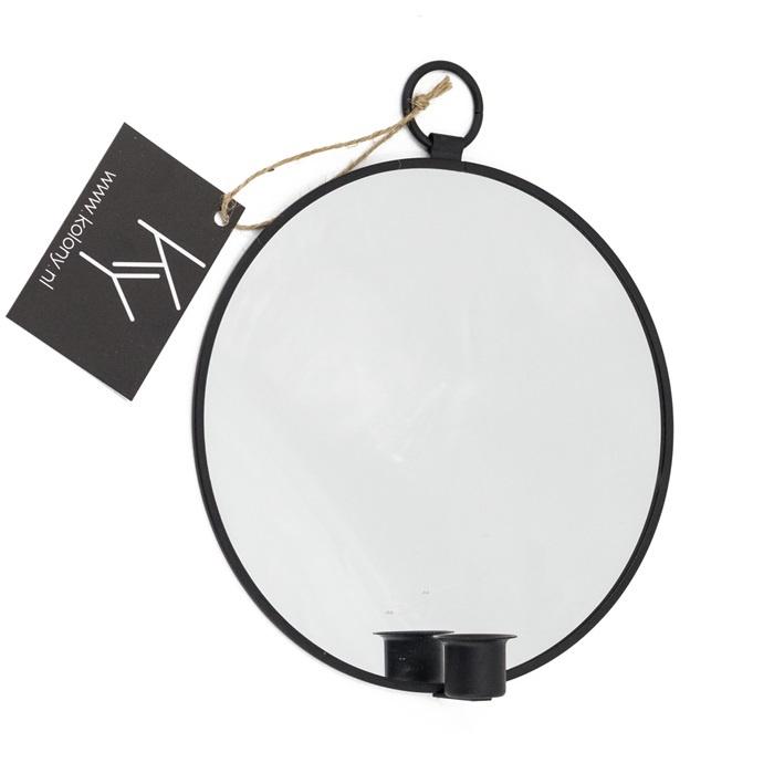 Spiegel met kandelaar, S