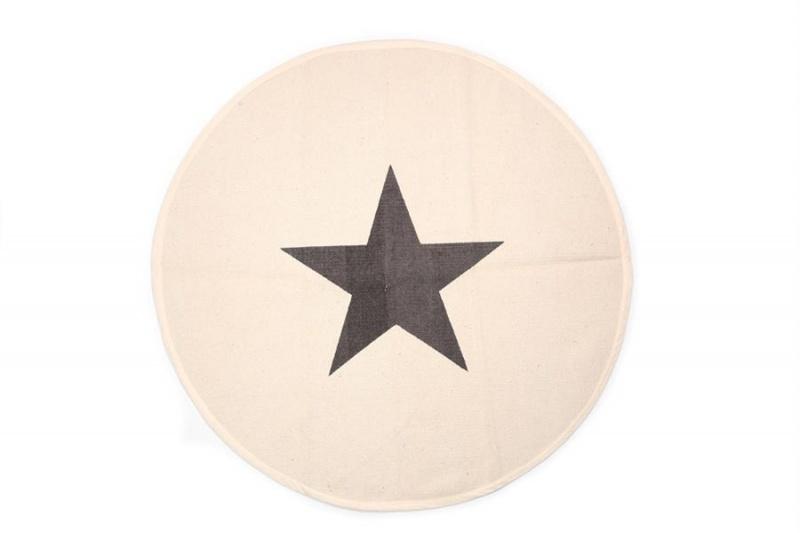 Vloerkleed Star - rond, creme