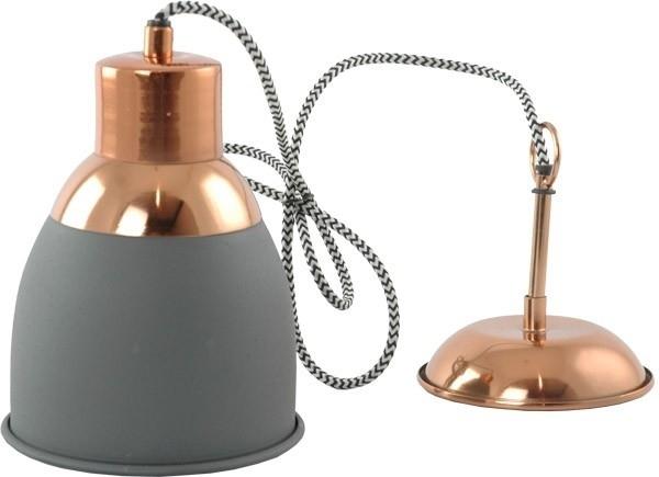 Hanglamp Zoe - grijs/koper