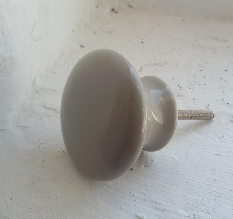 Kastknop/Wandknop - lichtgrijs