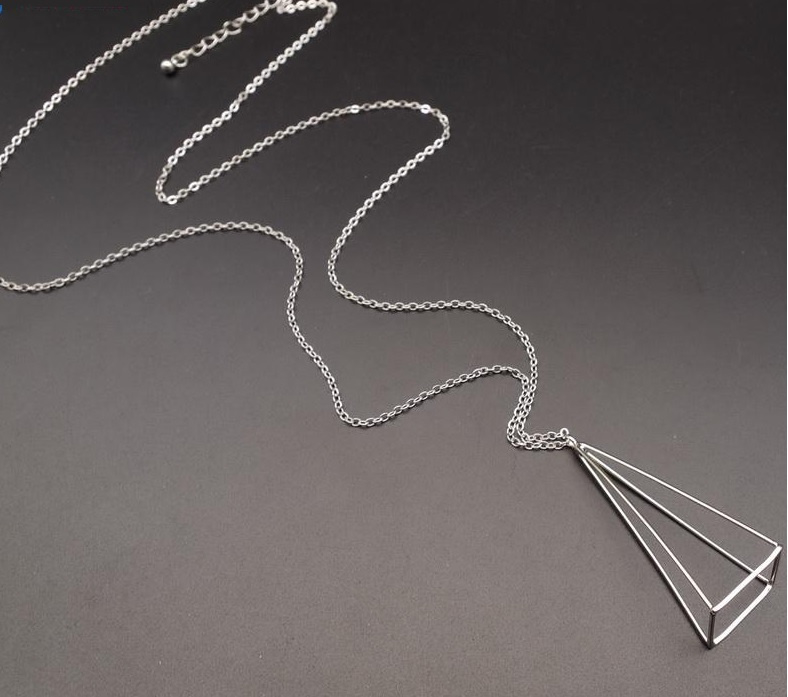 Ketting Triangle 3D - zilver