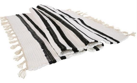 Vloerkleed Anhui - offwhite/zwart