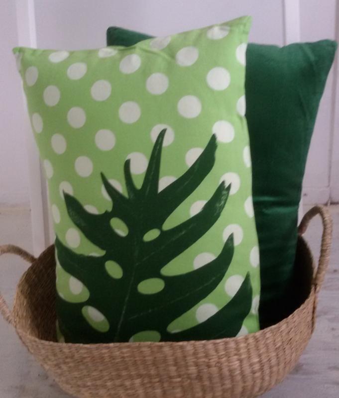 Kussen Dot - groen