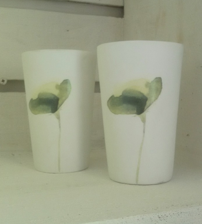 Waxinelichtje Flower - groen