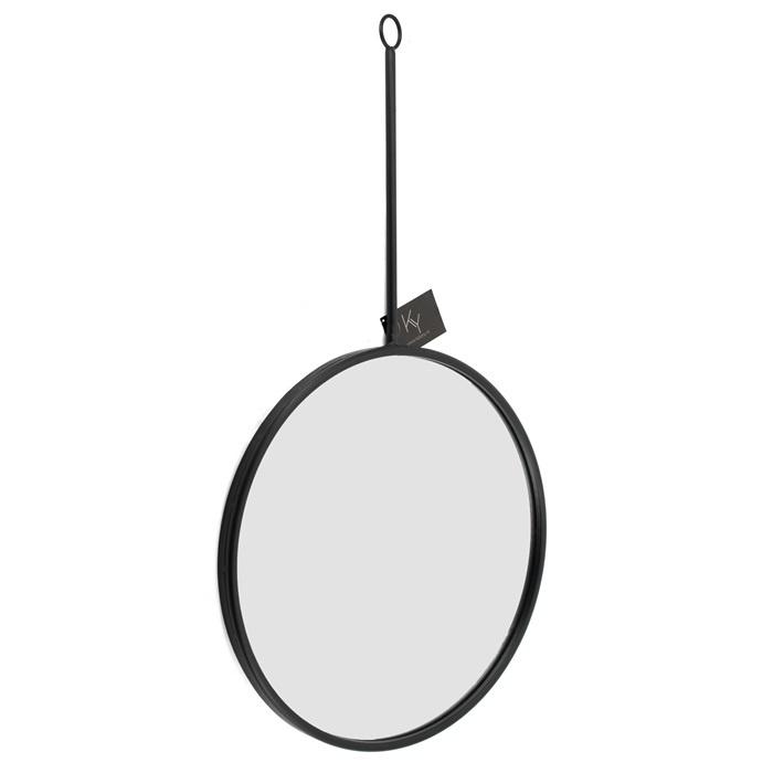 Spiegel rond - zwart, L