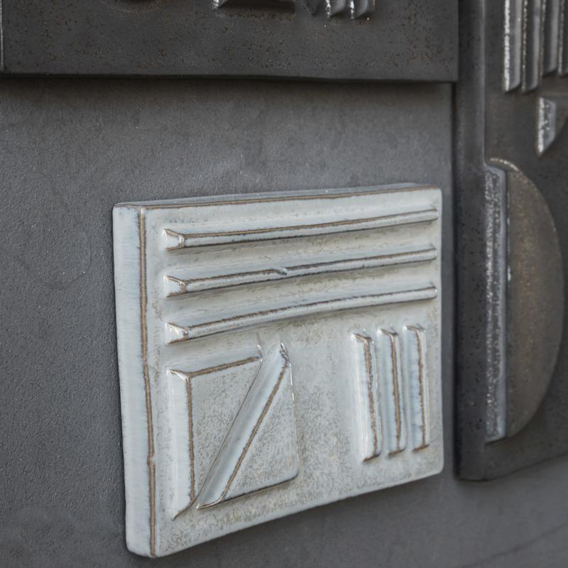 Wallframe Geometrisch - grey, S