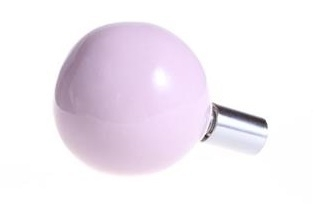 Wandknop, rond - roze