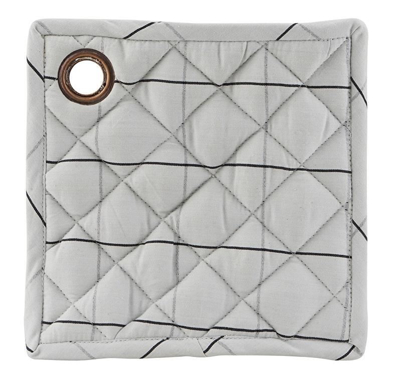 Set van 2 pannenlappen Check - grijs