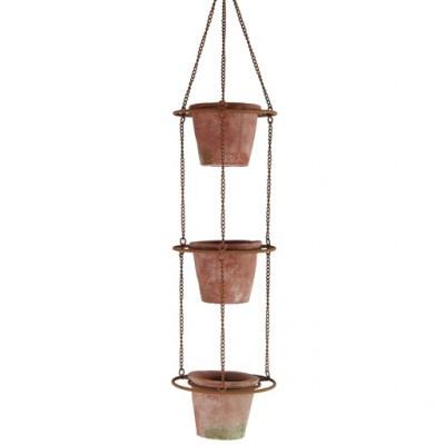 Hanger met 3 bloempotten