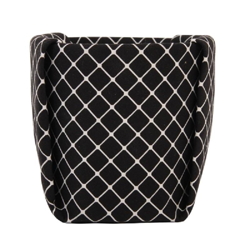 Bloempot Grid - zwart