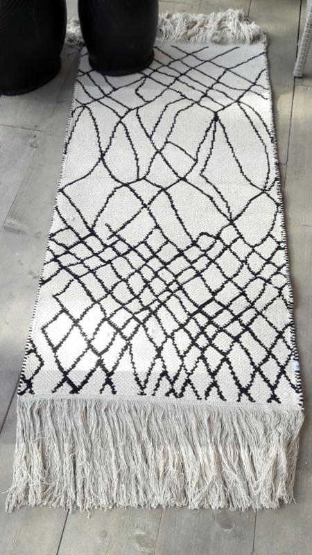 Vloerkleed Check - zwart/offwhite