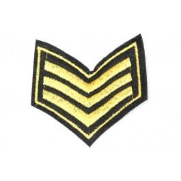Patch Rang - goud, 3 strepen