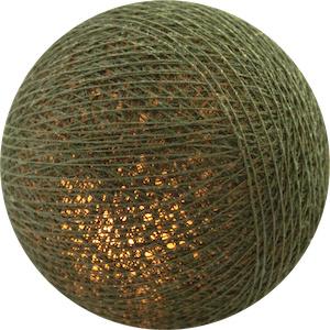 Cottonball Lights, khaki - 10 lichts