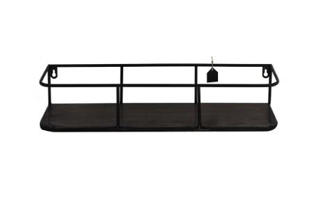 Wandplank Metal - donkerbruin