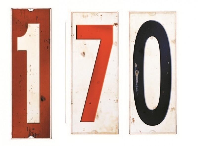 1660017 Plaat met cijfer (7 of 0)
