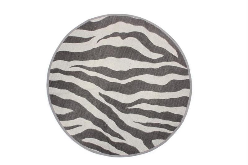 Vloerkleed Zebra, rond