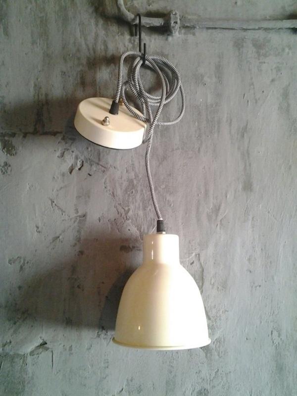 0498-2 Hanglamp metal, creme