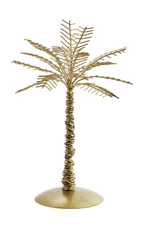 Decoratie palm - antiekbrons
