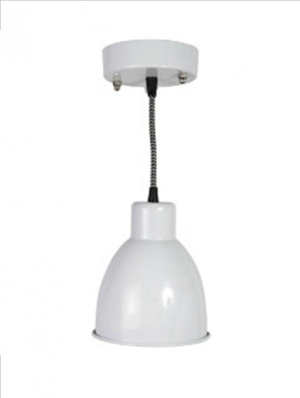 0498-2 Hanglamp metal, wit