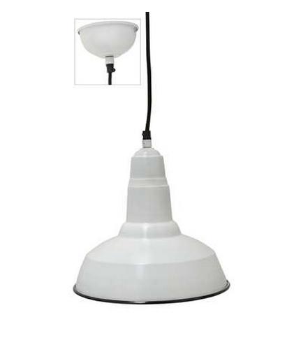 Industriële lamp met zwarte rand