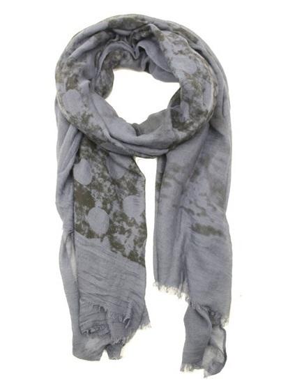 Sjaal Dots - jeansblauw