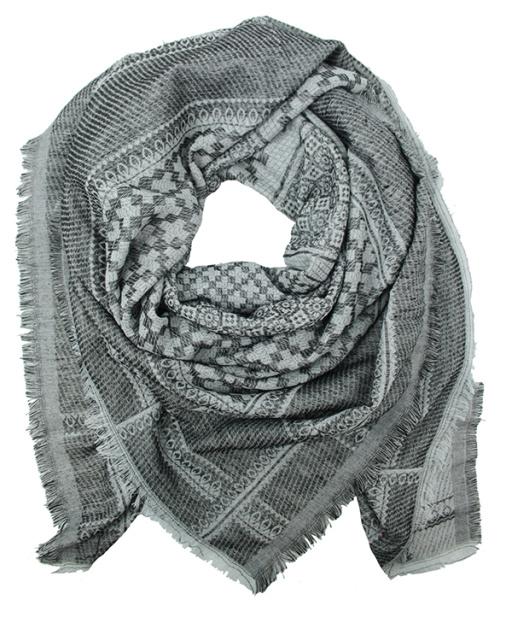 Sjaal Daria - zwart/wit
