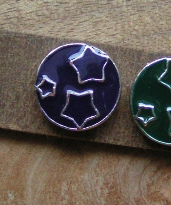 109 Clickbutton Stars - paars