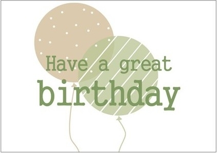 Kaart Have a great Birthday