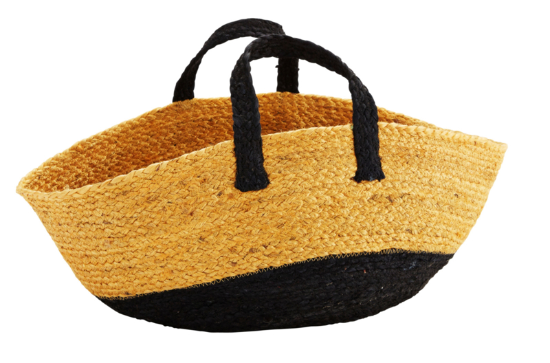 Mand/tas van hennep - zwart/geel