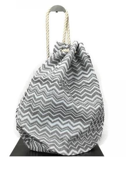 Duffle bag - zigzag, grijs